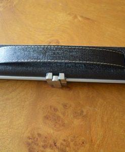 Black One Piece Aluminium Leather Look Cue Case 1