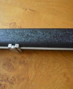 Black One Piece Aluminium Leather Look Cue Case 2
