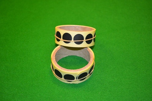 Black Snooker Table Spots Roll