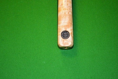 1 Piece Ebony Birds Eye Maple Snooker Cue