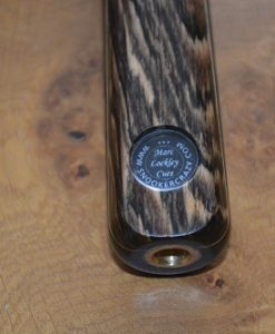 Three Quarter Ebony Black Foxwood Snooker Cue