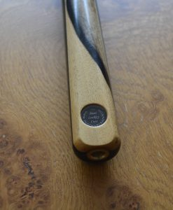 Three Quarter Black and White Ebony Snooker Cue