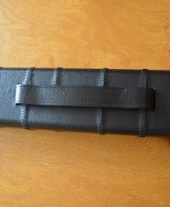 Black One Piece Leatherette Cue Case 1