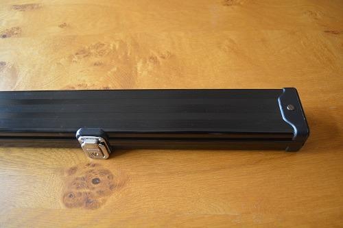 Black Three Quarter Aluminium Cue Case 1