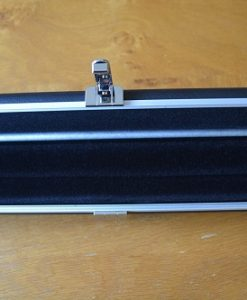 Black Three Quarter Aluminium Leather Look Cue Case 3