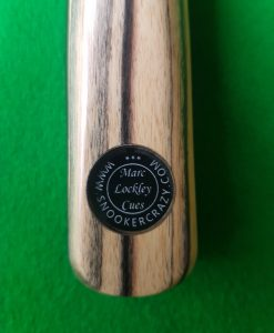 1 Piece Black and White Ebony Snooker Cue