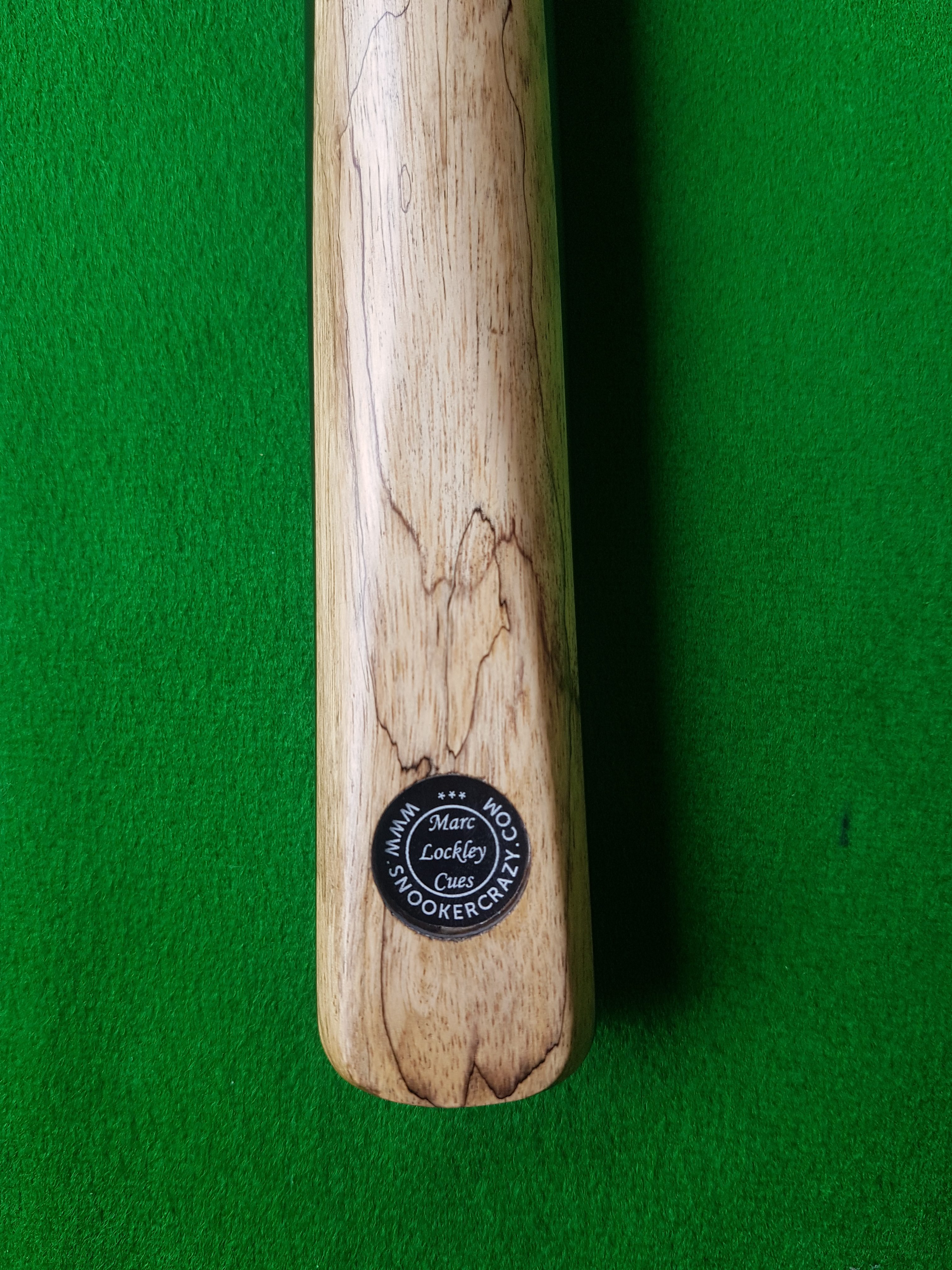 Ebony and Spalted Tamarin Snooker Cue