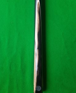Three Quarter Black and White Ebony Pool Cue