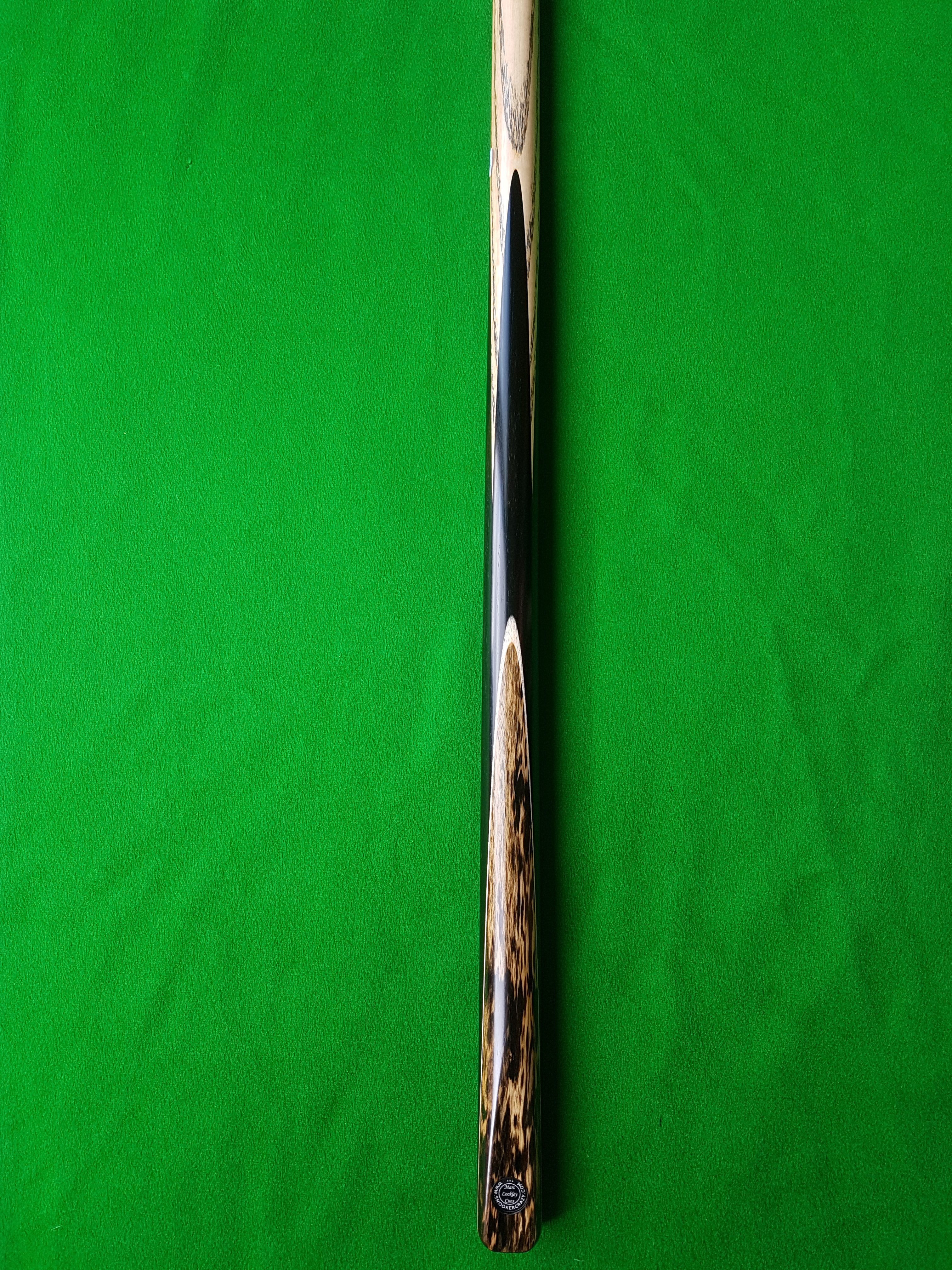 One Piece Black Foxwood Pool Cue