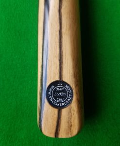 Three Quarter Black and White Ebony Snooker Cue CBA5 1