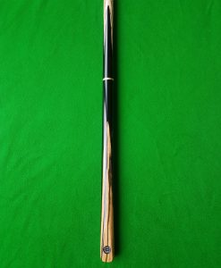 Three Quarter Black and White Ebony Snooker Cue CBA5 2