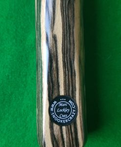 "58"" 9.8mm Three Quarter Black and White Ebony Snooker Cue B1 2"
