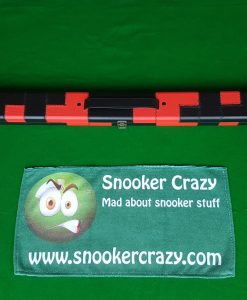 Black and Red Leatherette Snooker Cue Case