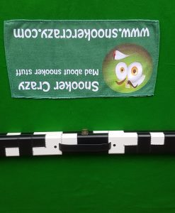 Black and White Leatherette Snooker Cue Case