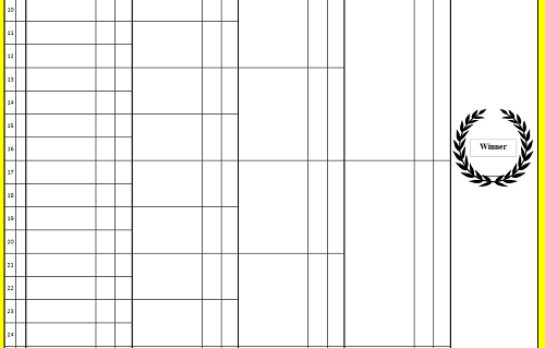 Snooker Competition Sheets
