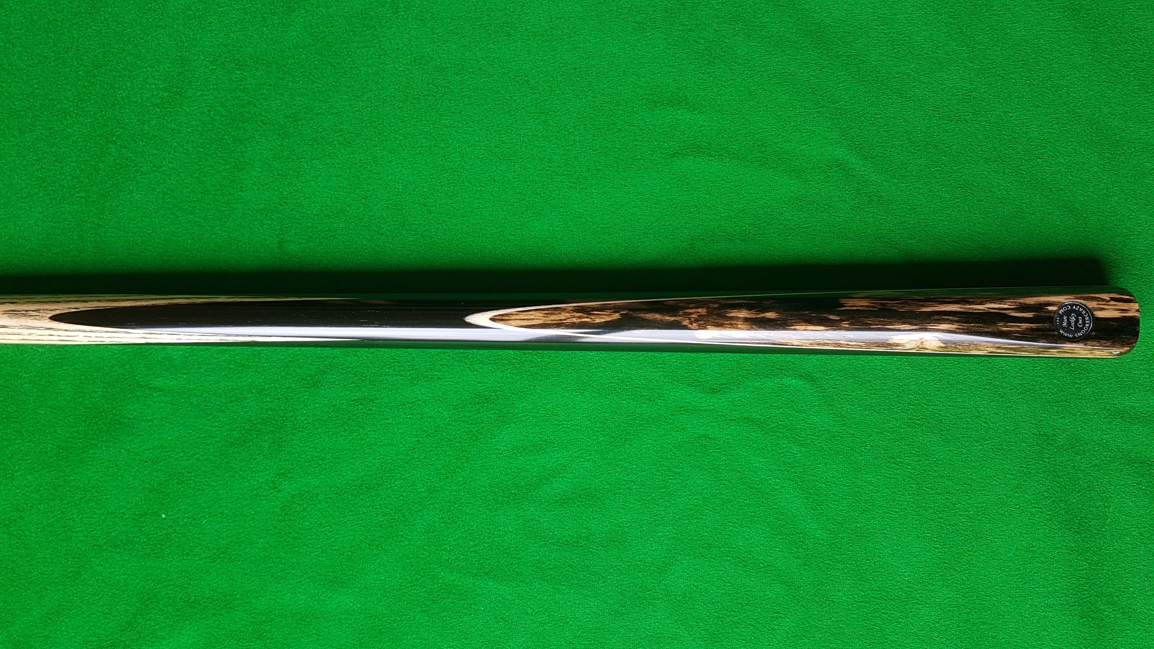 1 Piece Ebony Black Foxwood Snooker Cue