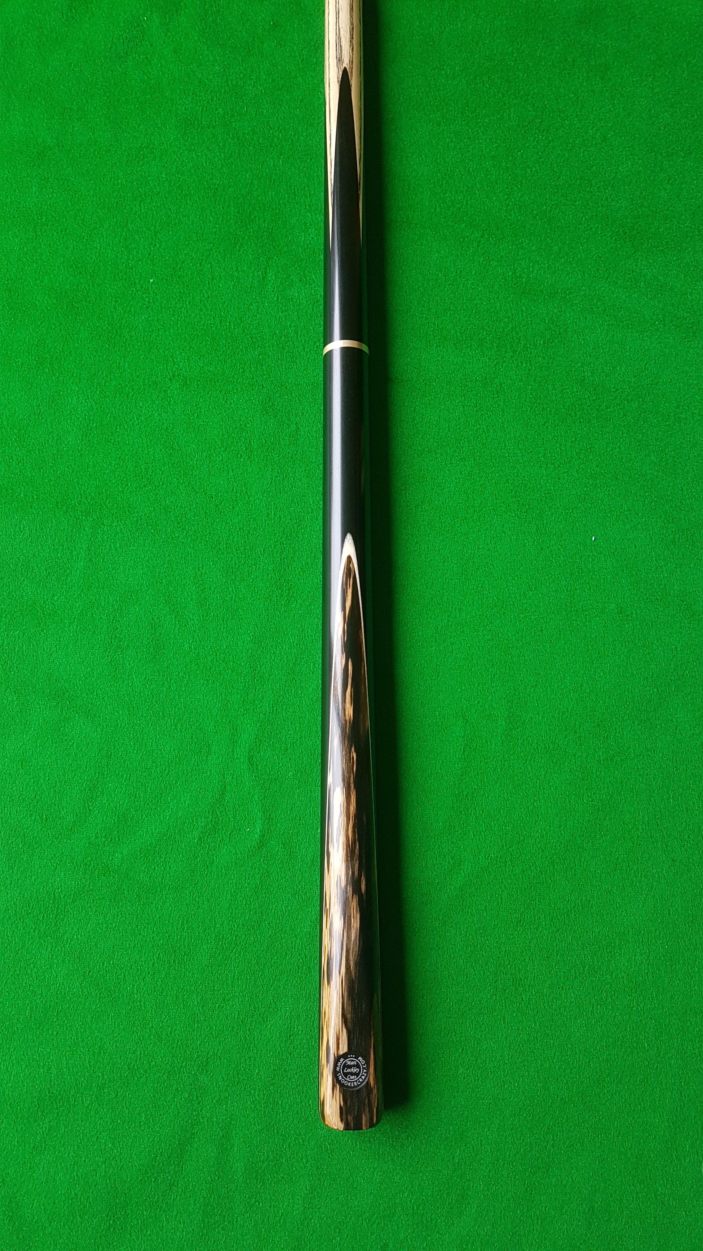 57 Three Quarter Black Foxwood Ebony Snooker Cue