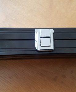 Black 1 Piece Aluminium Cue Case 2