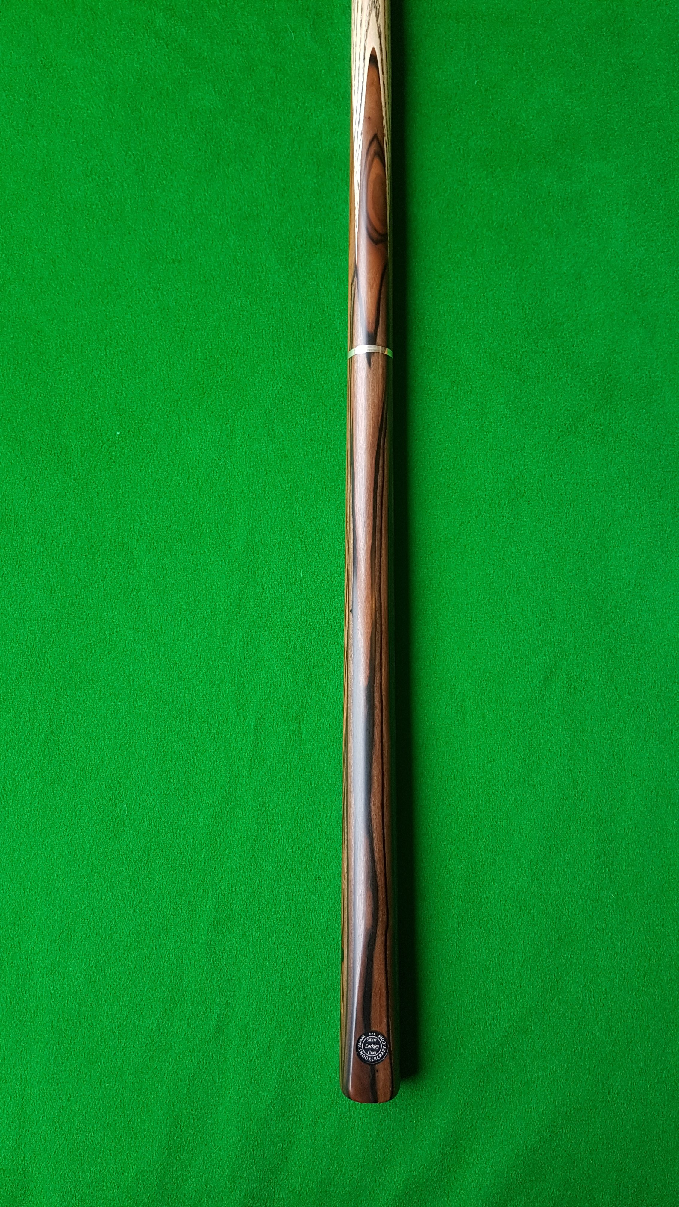 58 Three Quarter Striped Ebony Butt Snooker Cue