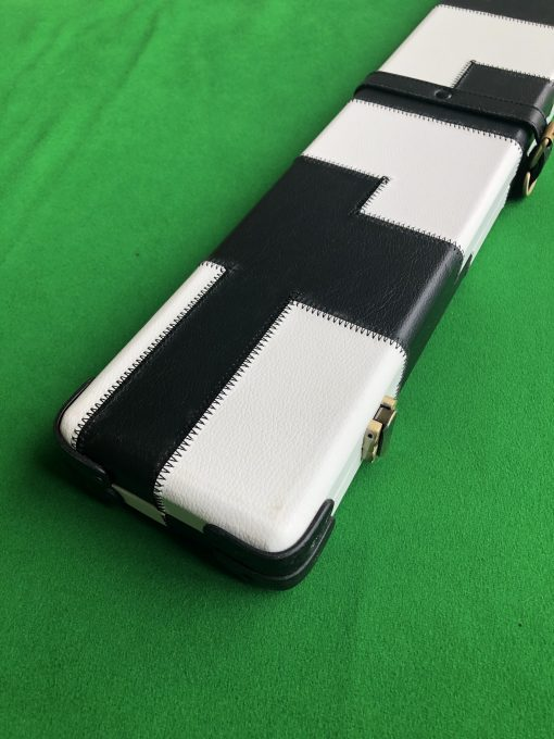 1 Piece Black and White Cue Case - J6100-3 3