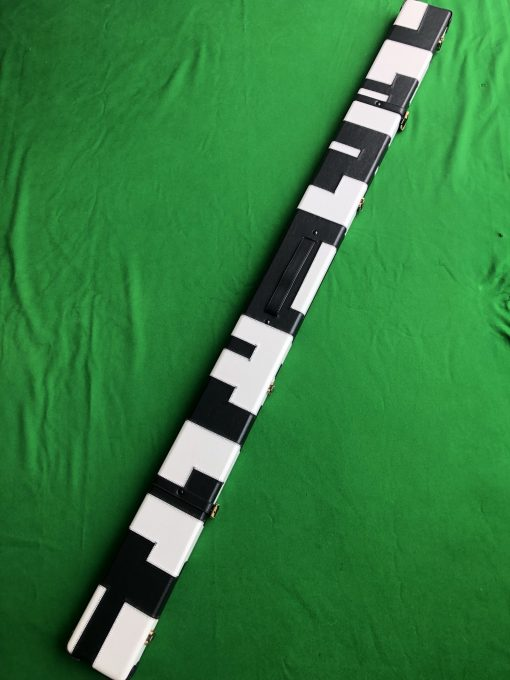 1 Piece Black and White Cue Case - J6100-3 4