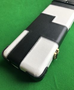 One Piece Black and White Patchwork Cue Case 6004 3