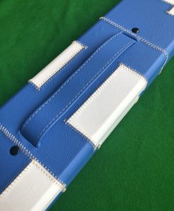 One Piece Blue &White Patchwork Cue Case J6101-1 1