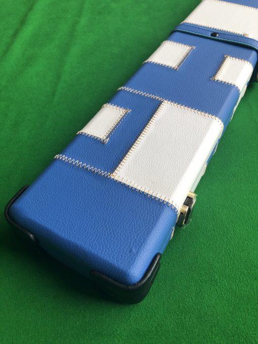 One Piece Blue &White Patchwork Cue Case J6101-1 3