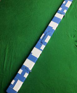 One Piece Blue &White Patchwork Cue Case J6101-1 4