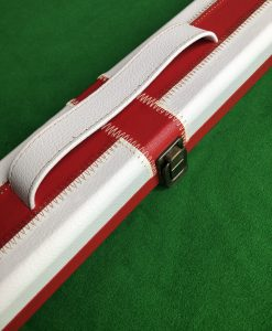 One Piece Red & White Cue Case B1 SWH 1