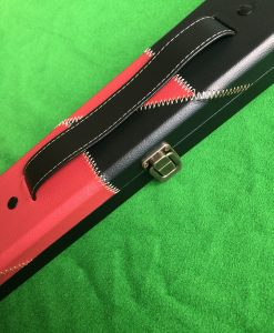 Three Quarter Black & Red Cue Case - E6106-1 1