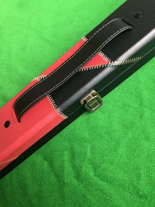 Three Quarter Black & Red Cue Case - E6106-1 1