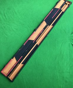 Three Quarter Black & Red Cue Case - E6106-1 2