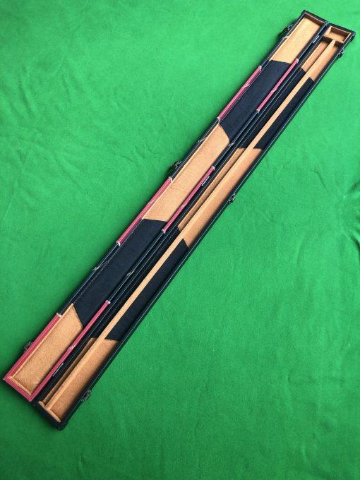 Three Quarter Black & Red Cue Case - E6106-1 2