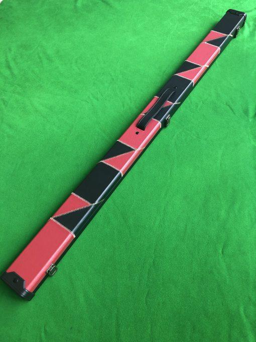 Three Quarter Black & Red Cue Case - E6106-1 3