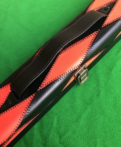 Three Quarter Blue & Red Diamond Cue Case - E6091-2 1