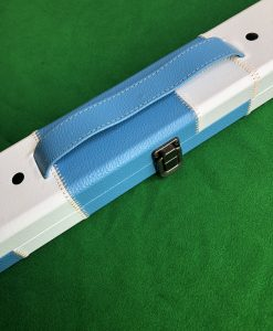 Three Quarter Blue & White Cue Case - E6111 1