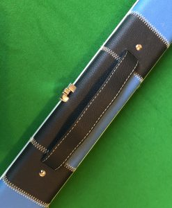 1 Piece Black and Blue Patchwork Halo Style Cue Case 1