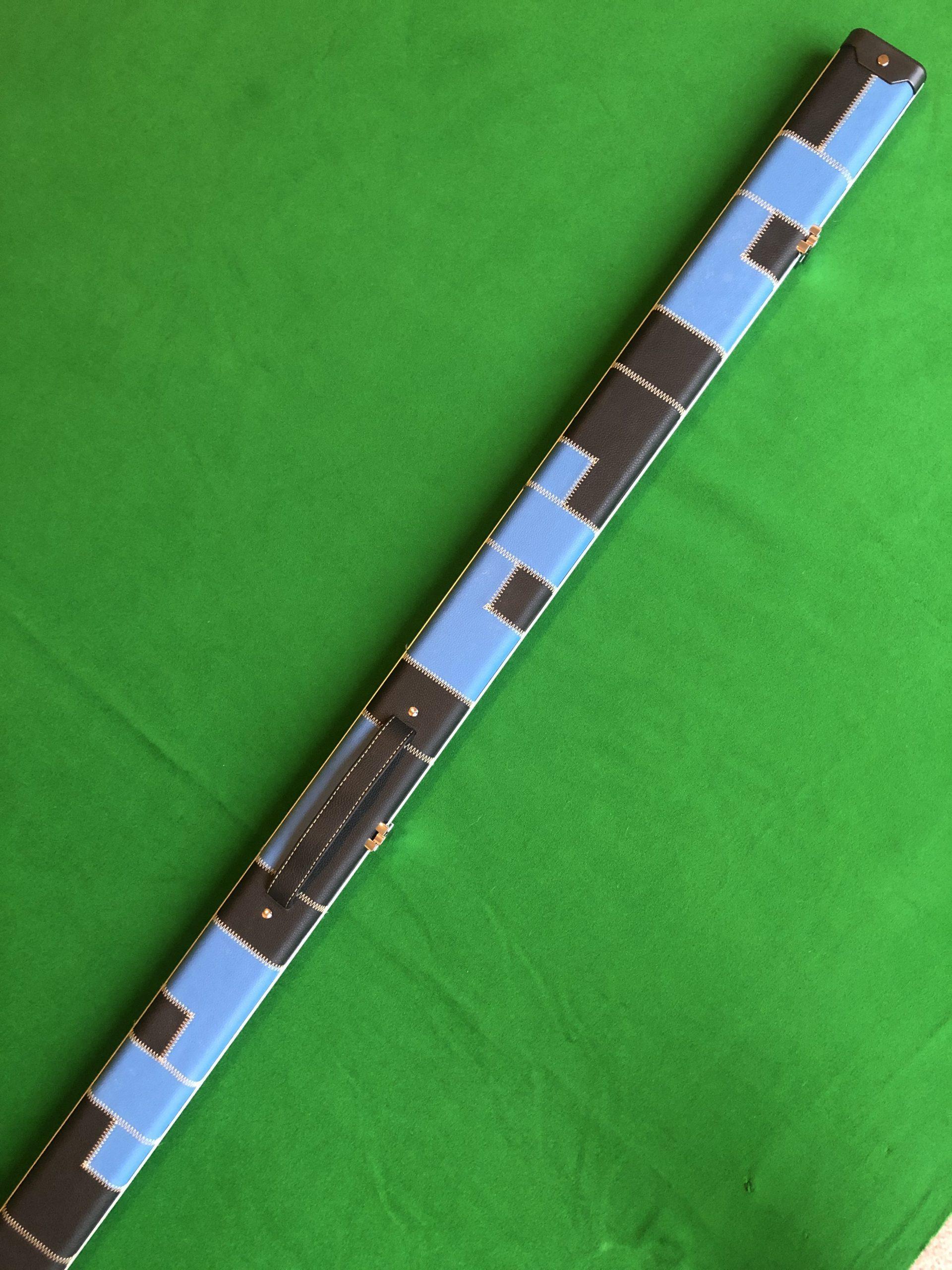 1 Piece Blue - Black Aluminium Patchwork Cue Case