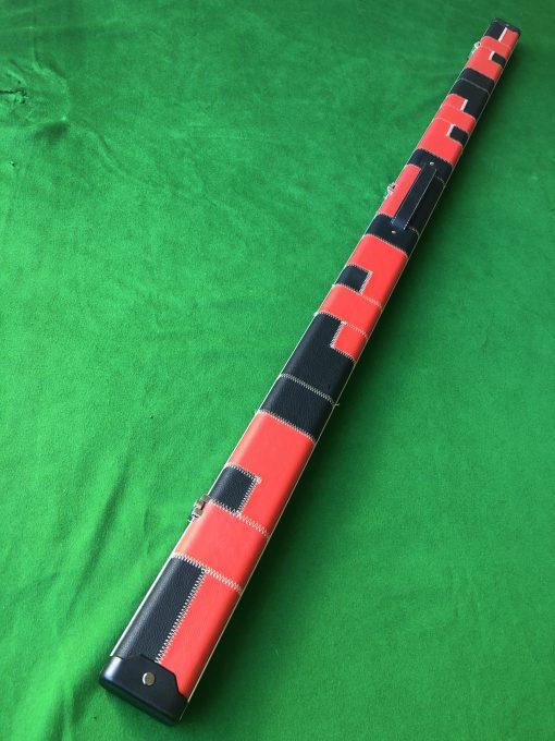 1 Piece Red - Black Aluminium Patchwork 2 Channel Case 2