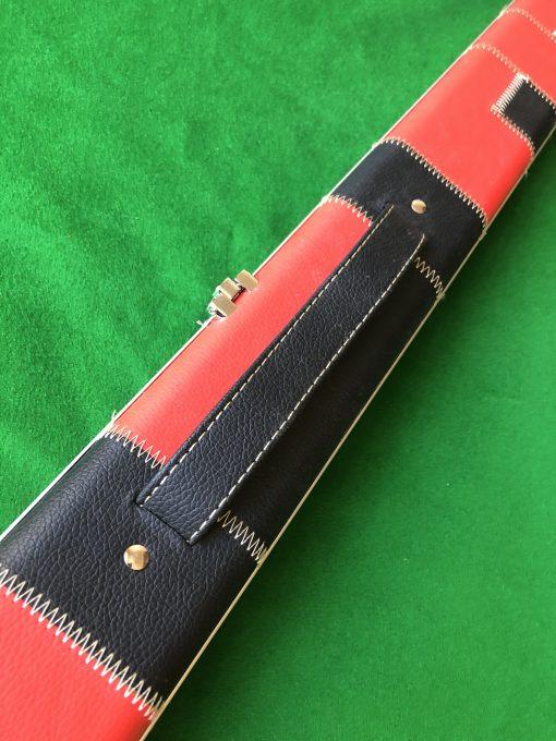 1 Piece Red - Black Aluminium Patchwork 2 Channel Case 3