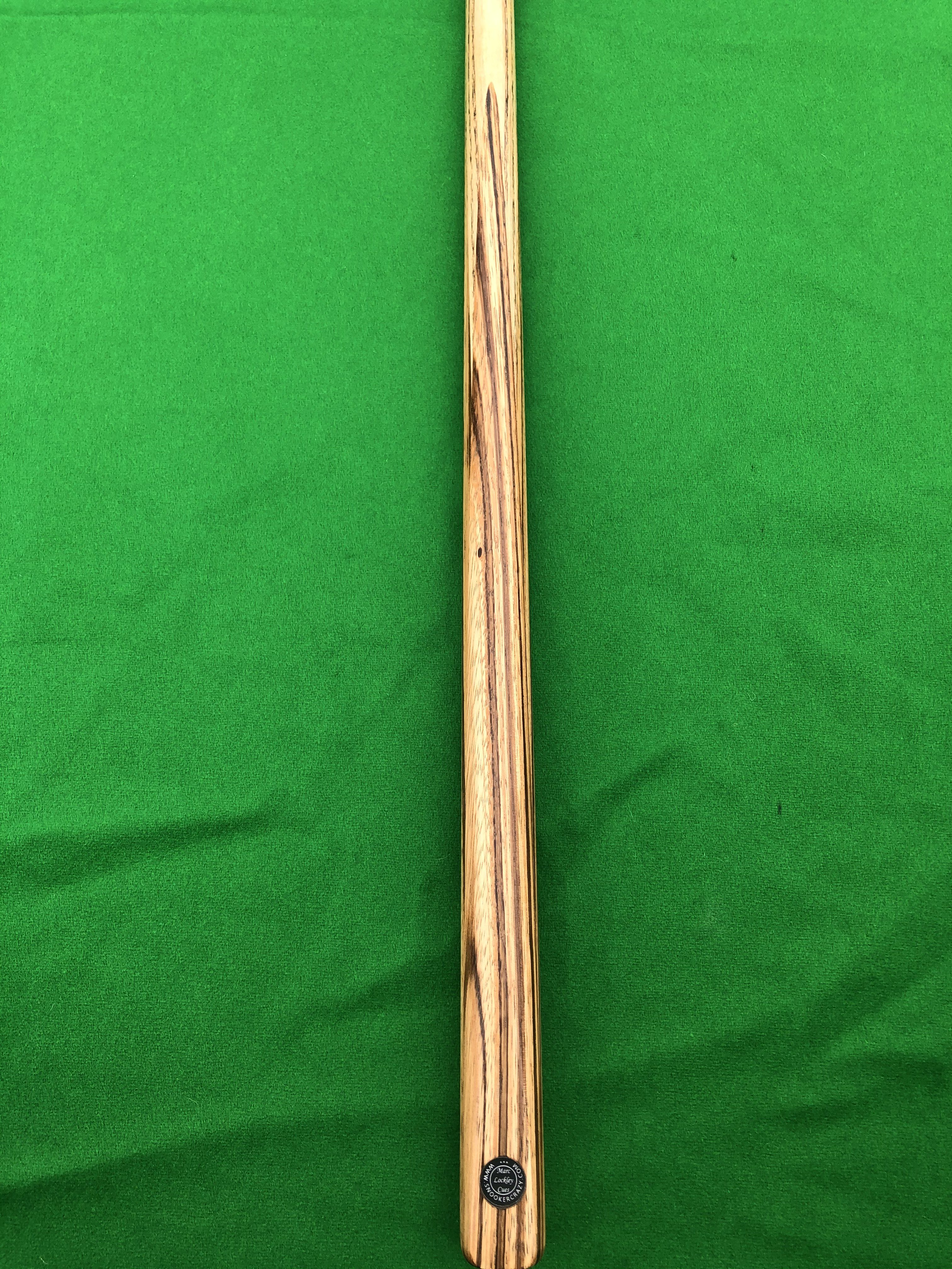 58.5 1 Piece Zebrawood Snooker Cue