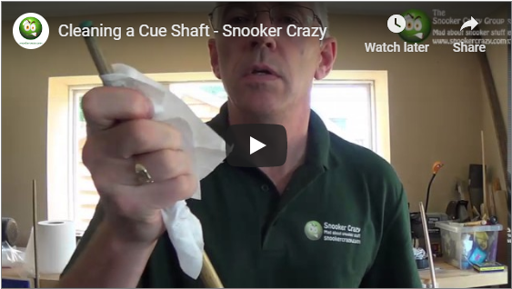How to Clean Your Snooker Cue Shaft