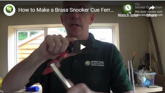 How to make a brass cue ferrule