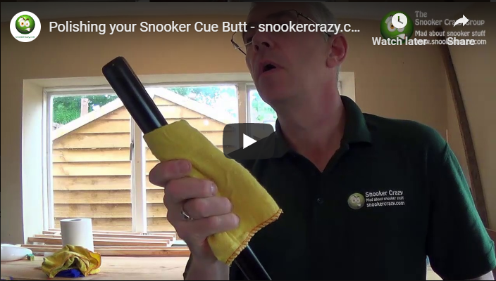 How to polish your snooker cue butt