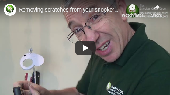 Removing scratches from your snooker cue acrylic badge