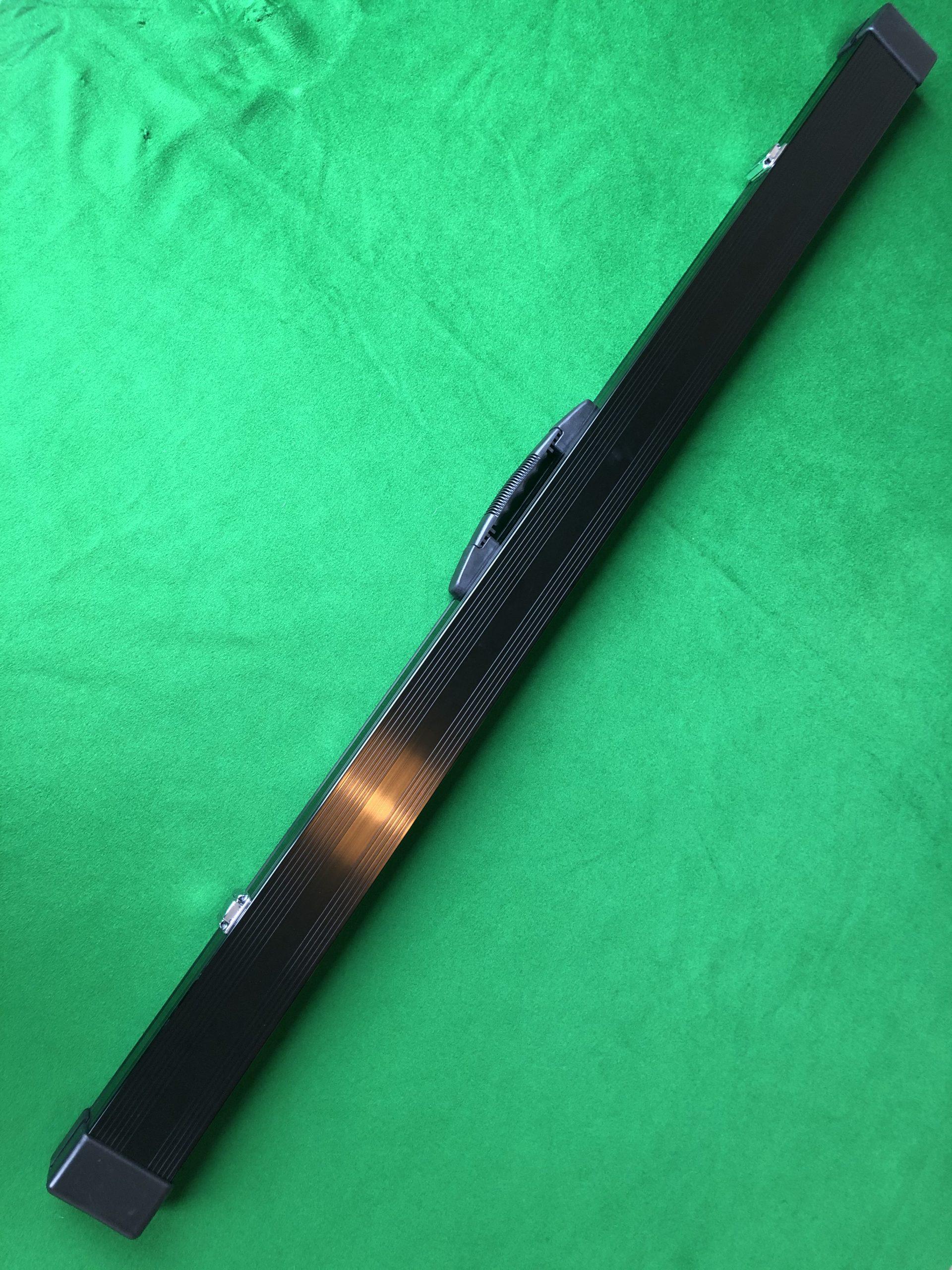 Black Three Quarter Aluminium Cue Case