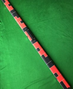 Three Quarter Black and Red Patchwork Cue Case 2