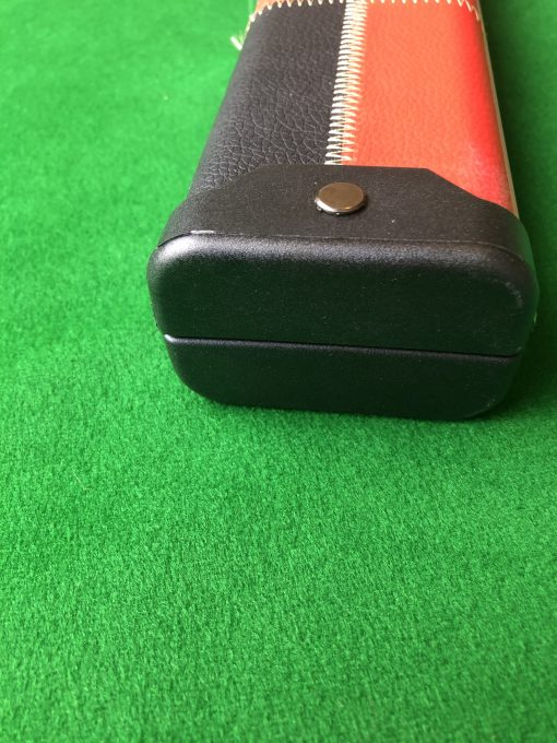 Three Quarter Black and Red Patchwork Cue Case 3