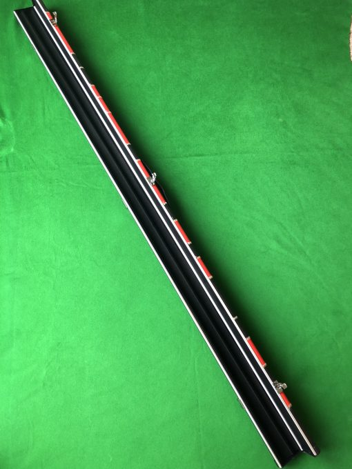 Three Quarter Black and Red Patchwork Cue Case 4